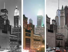 New York before and after - Woolworth Building