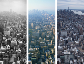 New York before and after - from Empire State Building