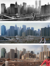 New York before and after - Biker Downtown