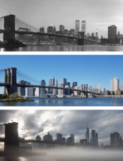 New York before and after - Skyline
