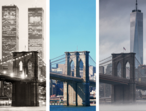 art photography, ta hoffmann, New York before and after - Brooklyn Bridge