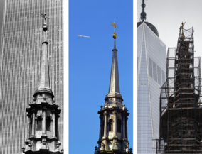 New York before and after - St. Pauls Church