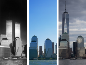 New York before and after - from hudson river