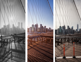 New York before and after - from Brooklyn Bridge